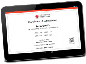 American Red Cross Find My Certificate