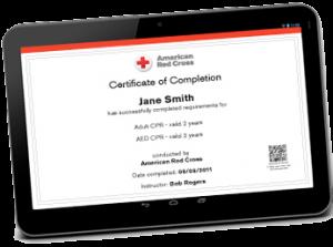 American Red Cross Find My Certificate