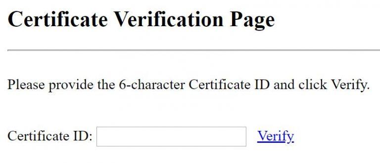 Verify an American Red Cross digital certificate