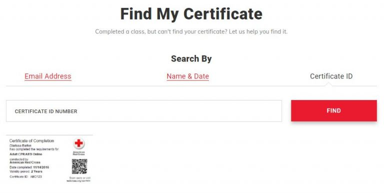 Verify A Red Cross Certification